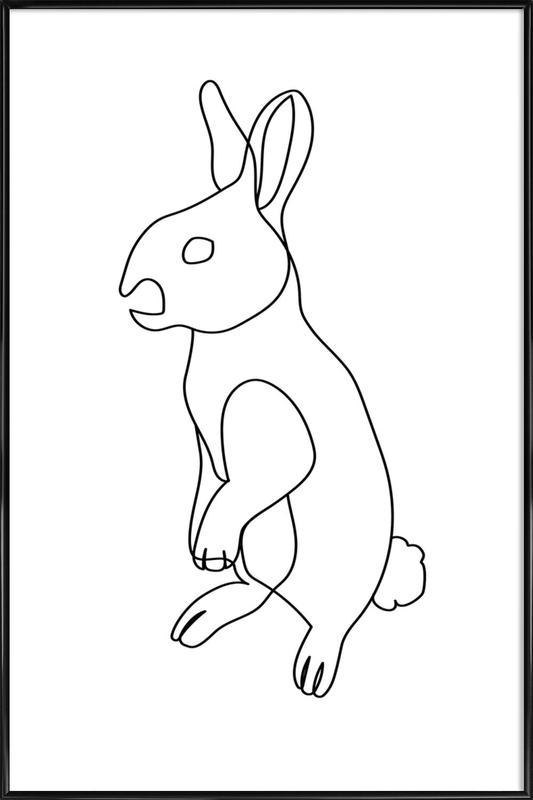 Rabbit affiche encadrée