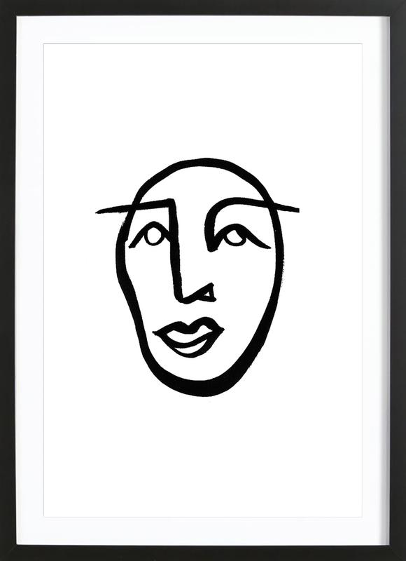 Faces 2 -Bild mit Holzrahmen