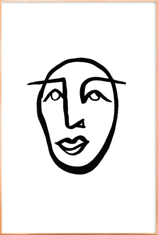 Faces 2 Poster in Aluminium Frame