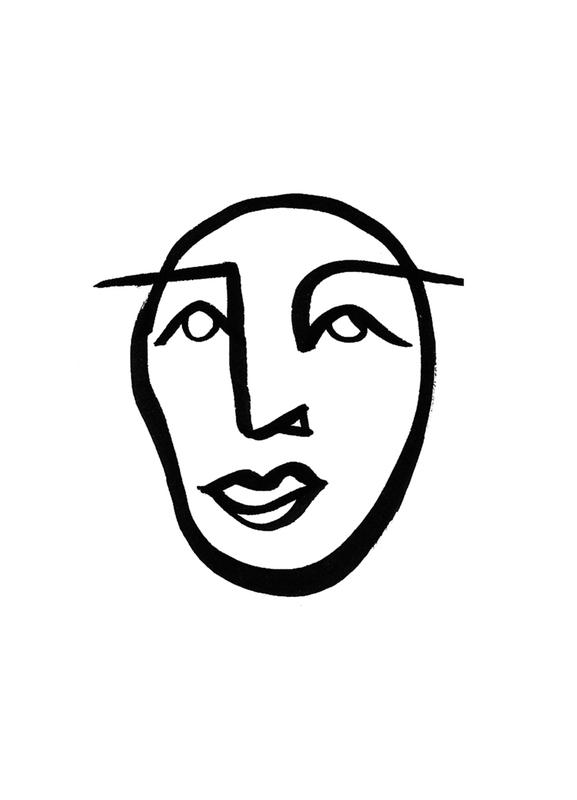 Faces 2 canvas doek