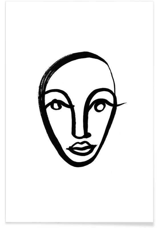 Black & White, Portraits, Faces 4 Poster
