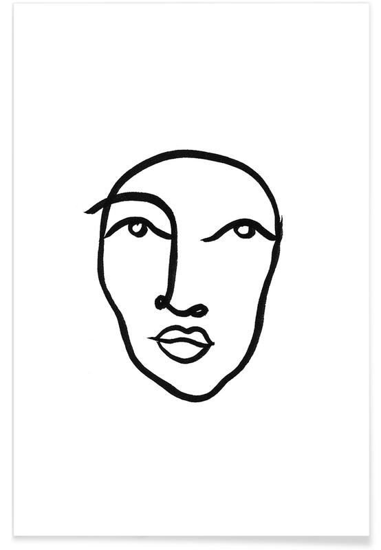 Black & White, Portraits, Faces 6 Poster