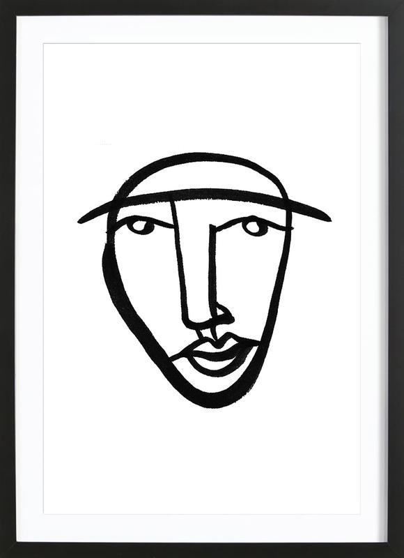Faces 8 ingelijste print