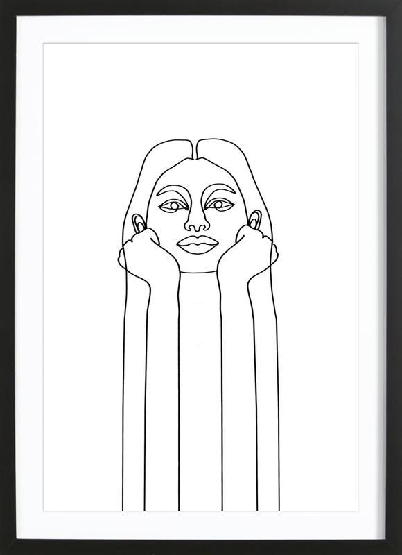 Curious Girl ingelijste print