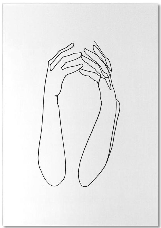 Noir & blanc, Détails corporels, Desperate bloc-notes