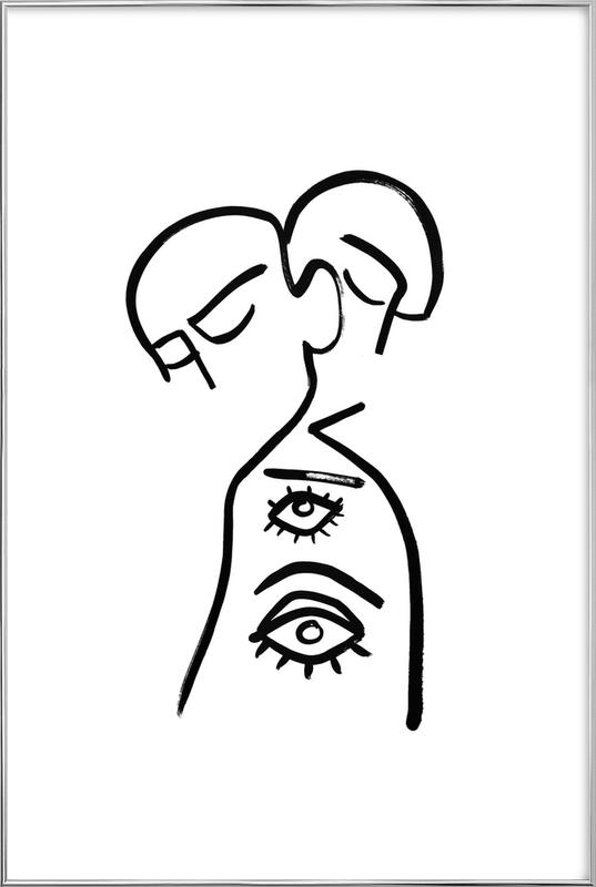 Eye Want You Poster in Aluminium Frame