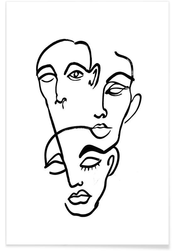 Noir & blanc, Faces 12 affiche