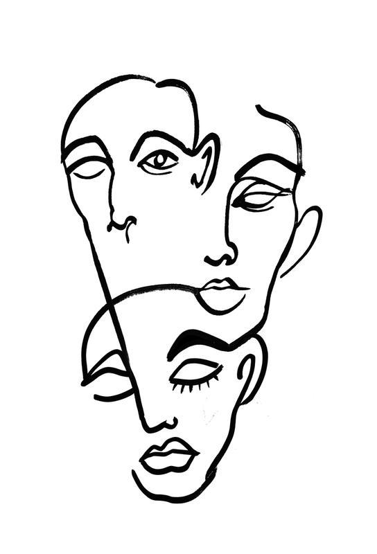 Faces 12 acrylglas print