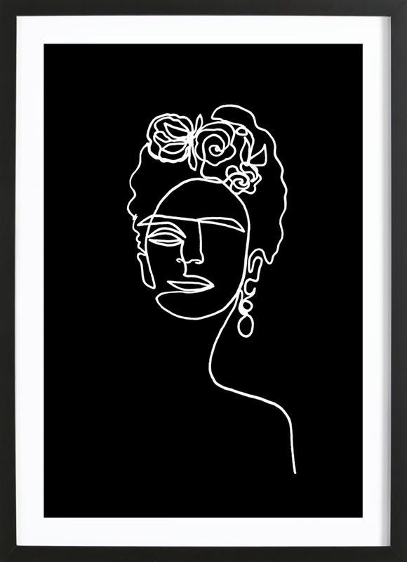 Frida Kahlo BW Framed Print
