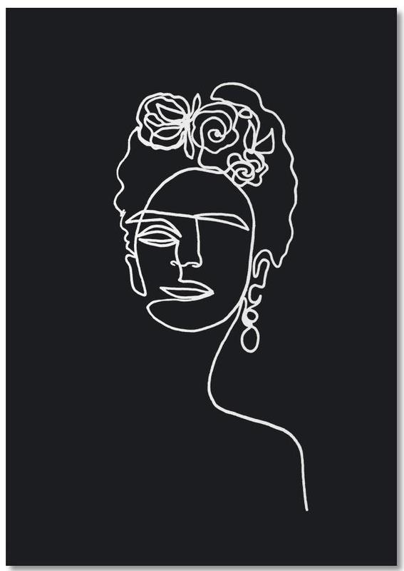 Frida Kahlo BW -Notizblock
