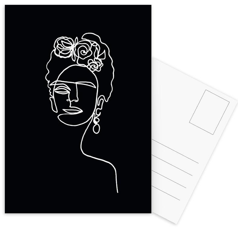 Frida Kahlo BW -Postkartenset