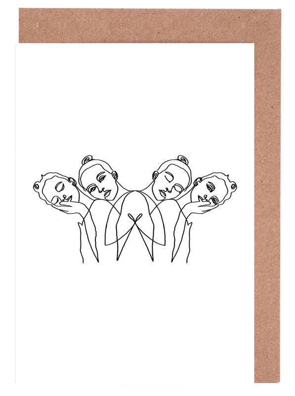 Girls -Grußkarten-Set