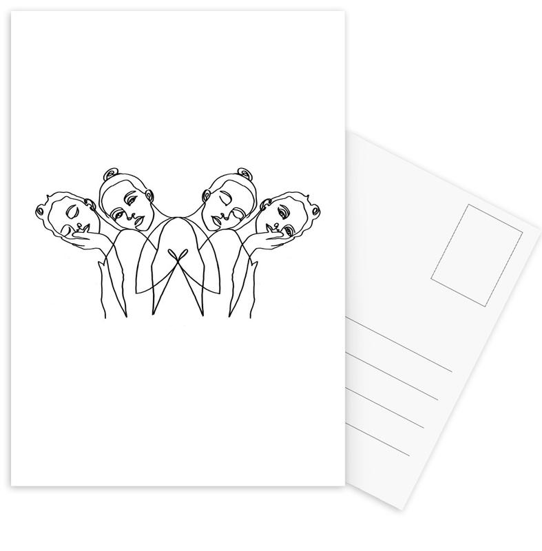 Girls -Postkartenset