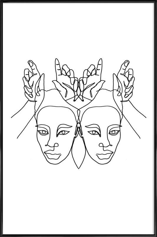 Luanne -Bild mit Kunststoffrahmen