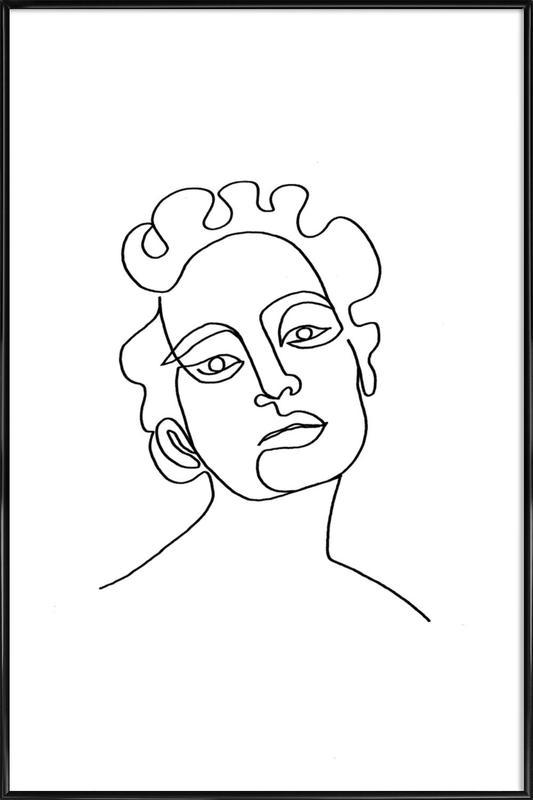 Maude ingelijste poster