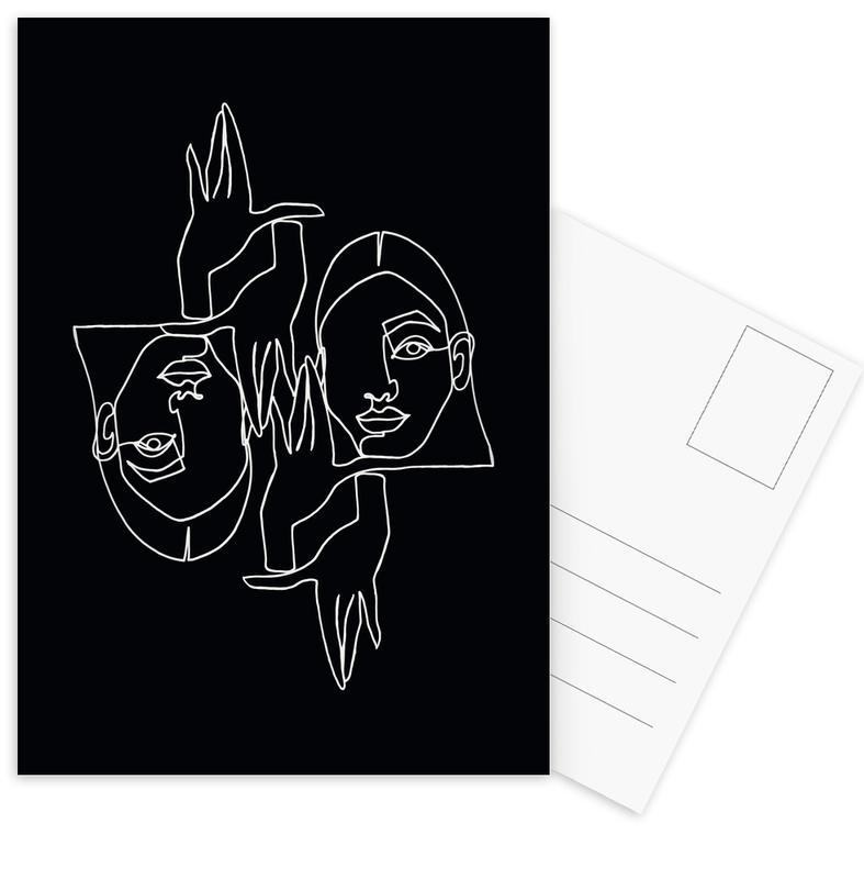 Mila BW -Postkartenset
