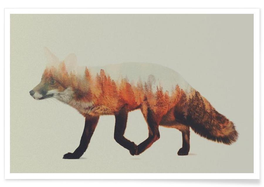 Füchse, Fuchs-Doppelbelichtung -Poster