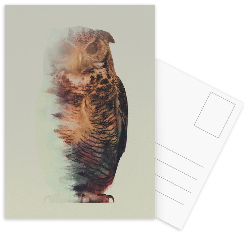Owls, Norwegian Woods: The Owl Postcard Set