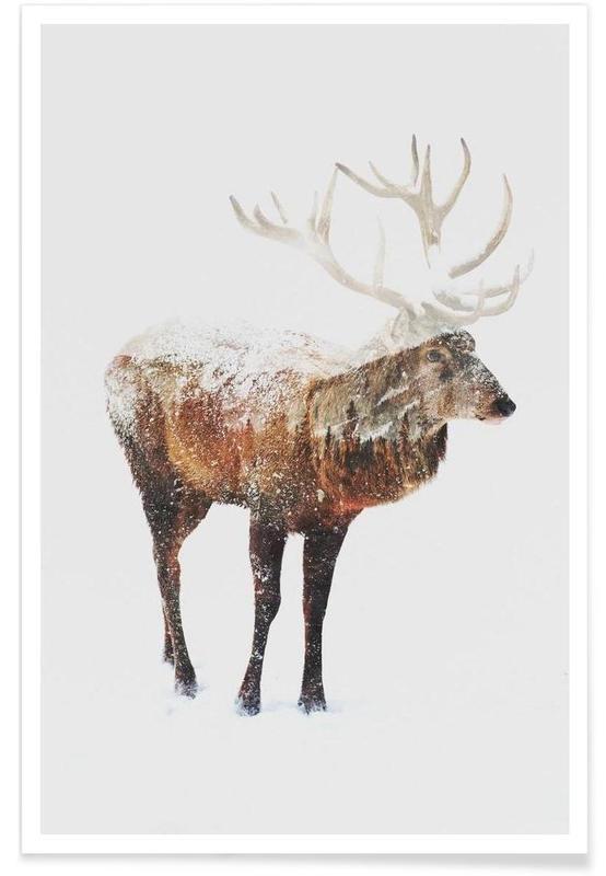 Herten, Noordpoolhert double exposure poster