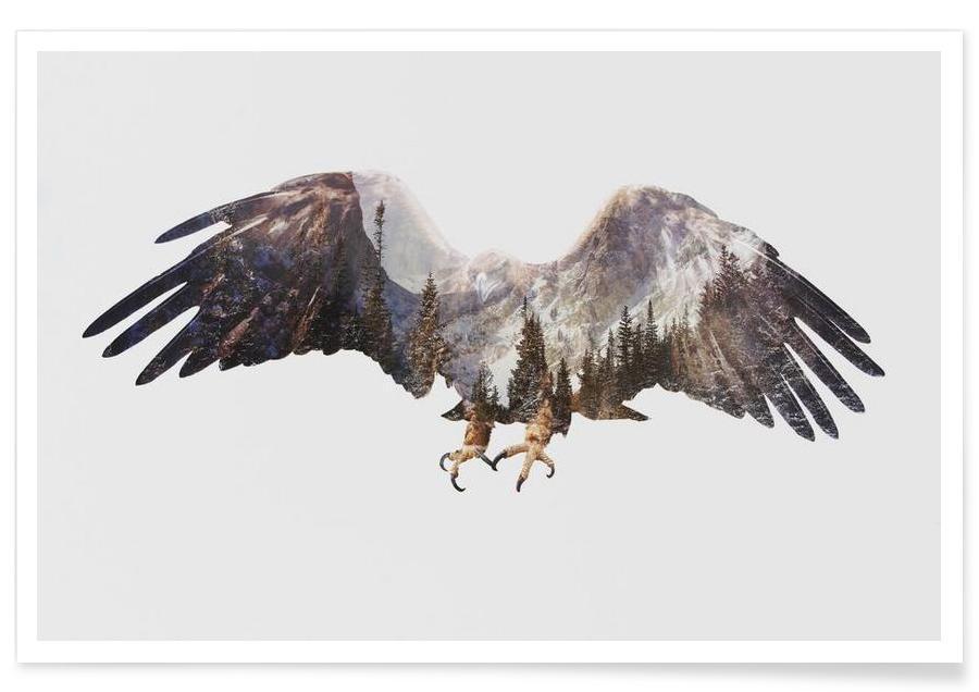 Adelaars, Arctische adelaar double exposure poster
