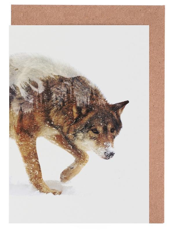Arctic Wolf Greeting Card Set