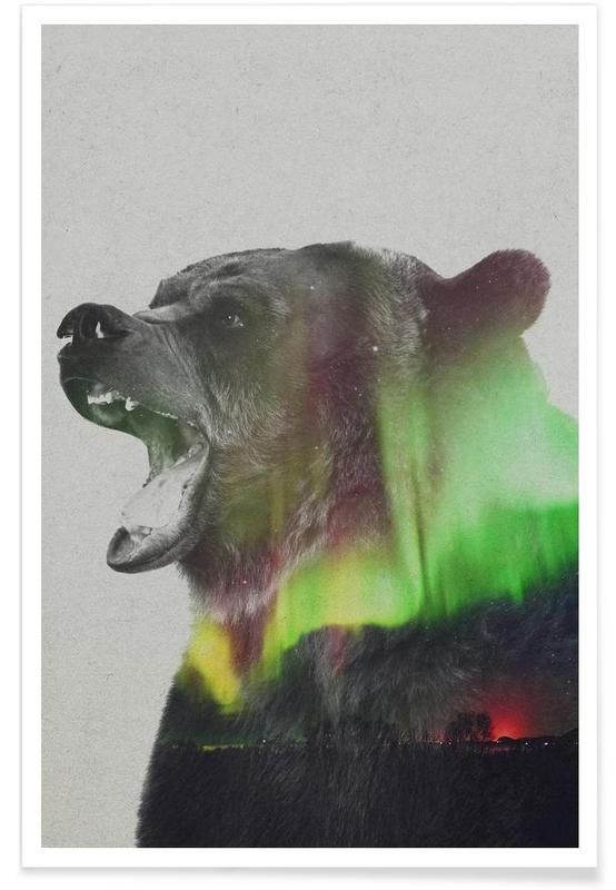 Bären, Bär-Doppelbelichtung -Poster