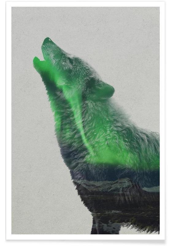 Loups, Hurler - Surimpression affiche