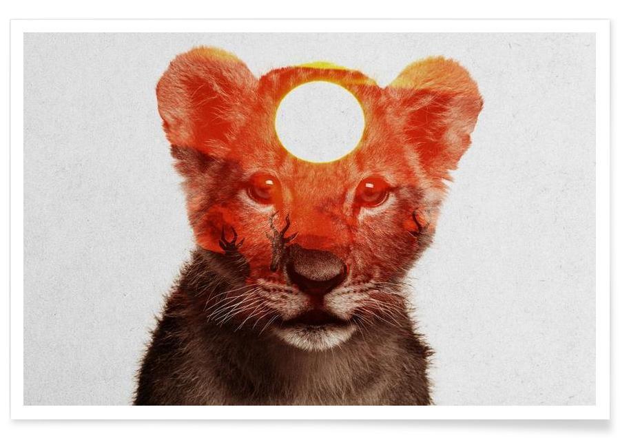Leeuwen, Leeuw double exposure poster