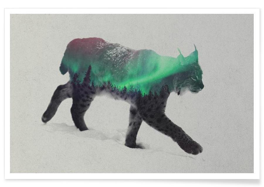 , Lynx double exposure poster