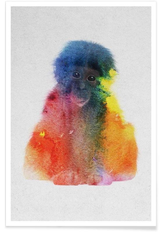 Affen, Affe-Doppelbelichtung -Poster
