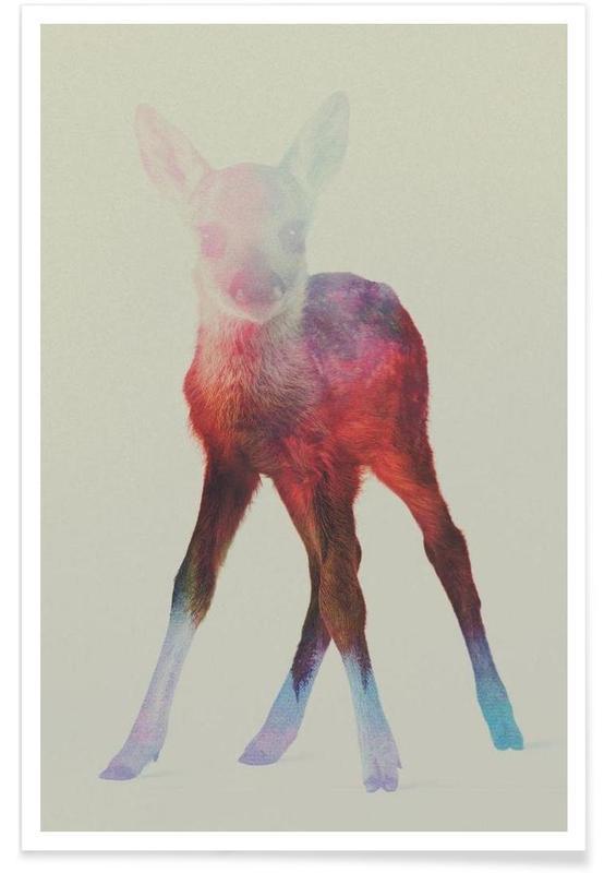 Herten, Reekalf double exposure poster