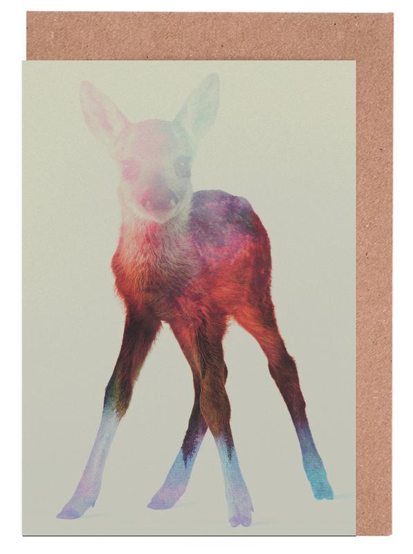 Herten, Deer Fawn wenskaartenset