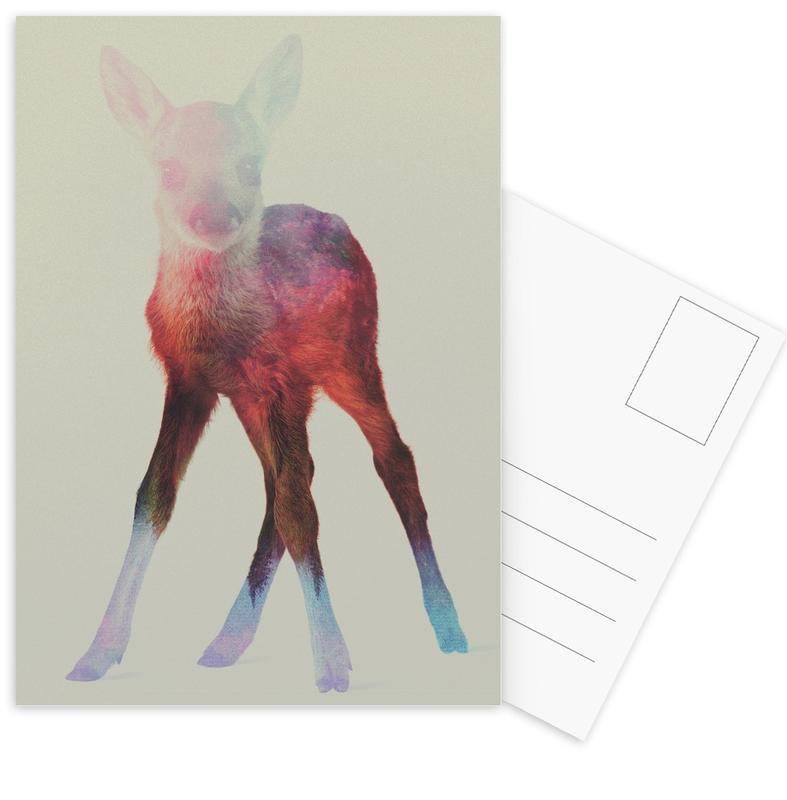 Herten, Deer Fawn ansichtkaartenset