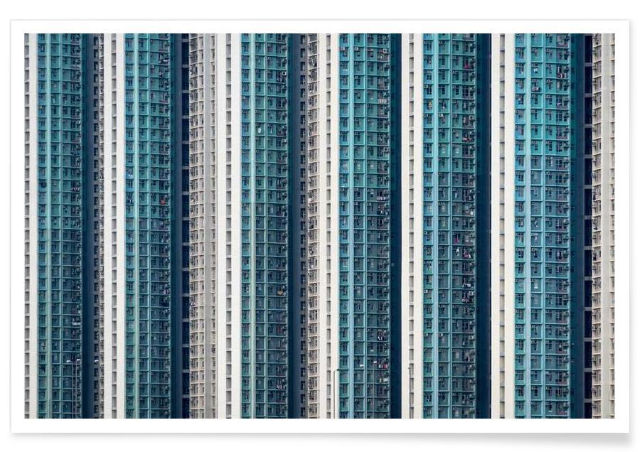 Skyskrapor & höghus, Hongkong, Propinquity Hong Kong 1 Poster