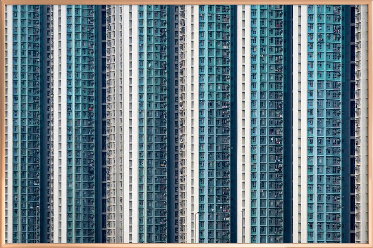 Propinquity Hong Kong 1 -Poster im Alurahmen