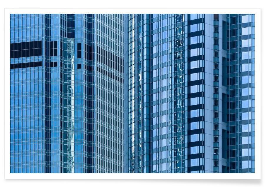 Gratte-ciels, Hong Kong, Façade. Hong Kong affiche