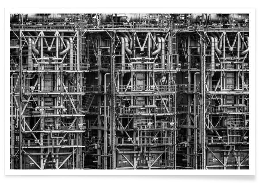 Schwarz & Weiß, Wolkenkratzer & Hochhäuser, Pipe Dreams 4 -Poster