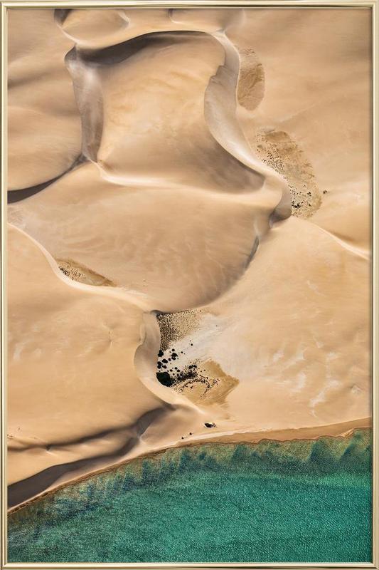 Shark Bay 2 -Poster im Alurahmen