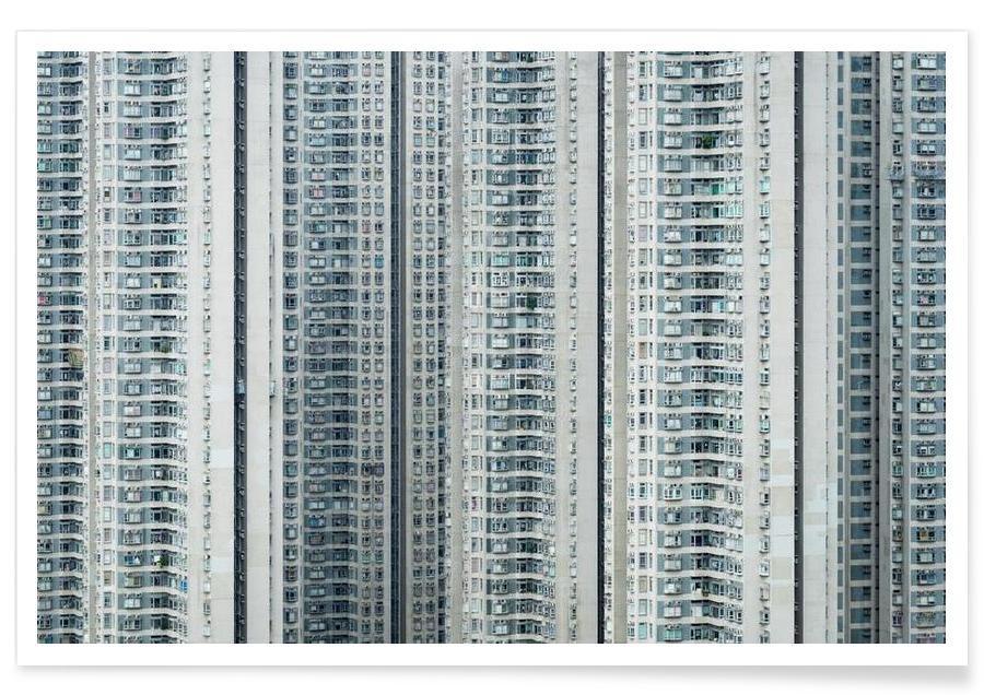 Skyscrapers & High-Rises, Hong Kong, Propinquity Hong Kong 3 Poster