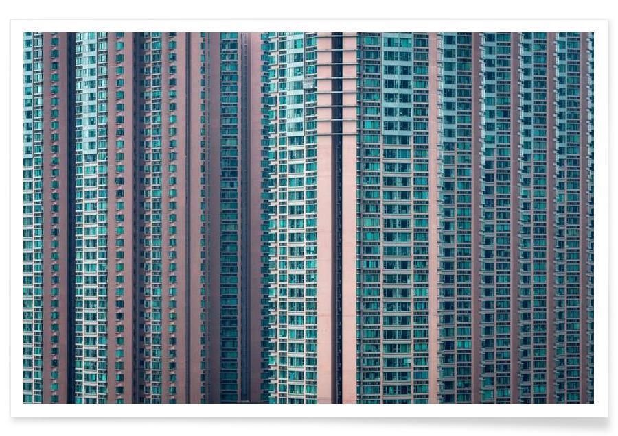 Skyscrapers & High-Rises, Hong Kong, Propinquity Hong Kong 4 Poster