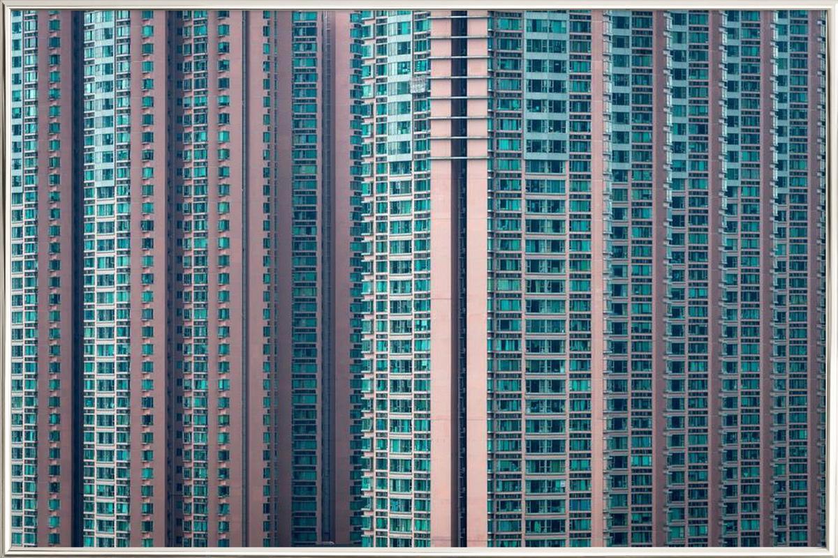 Propinquity Hong Kong 4 -Poster im Alurahmen