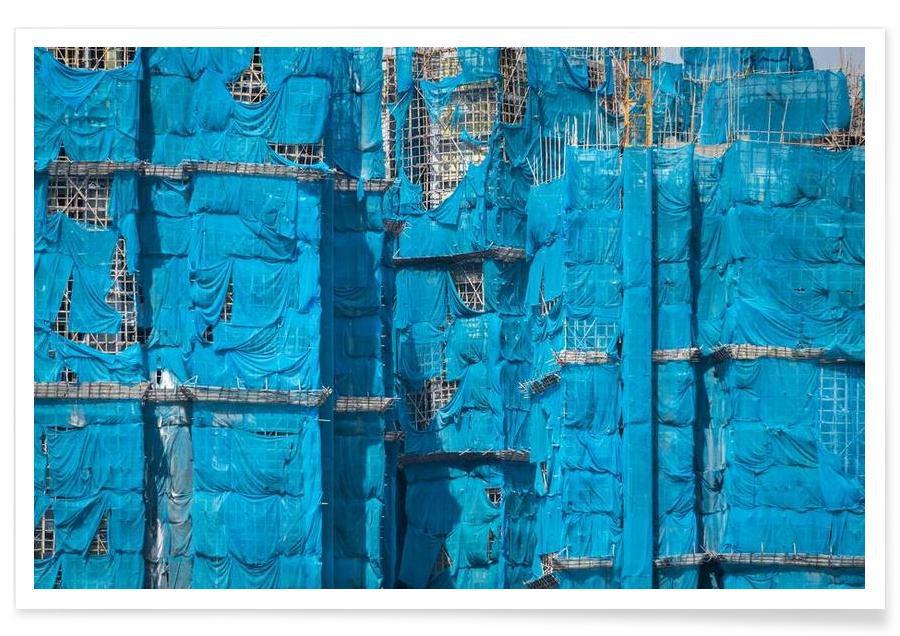 Gratte-ciels, Hong Kong, Shroud. Hong Kong affiche