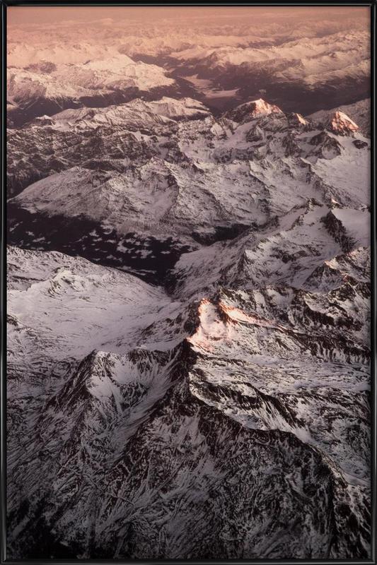 Pink Mountains affiche encadrée