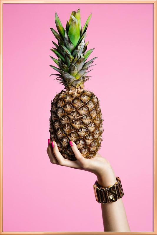Pineapple -Poster im Alurahmen