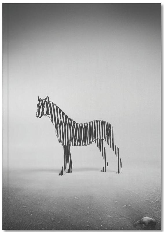 Black & White, Zebras, Zebra Mist Notebook