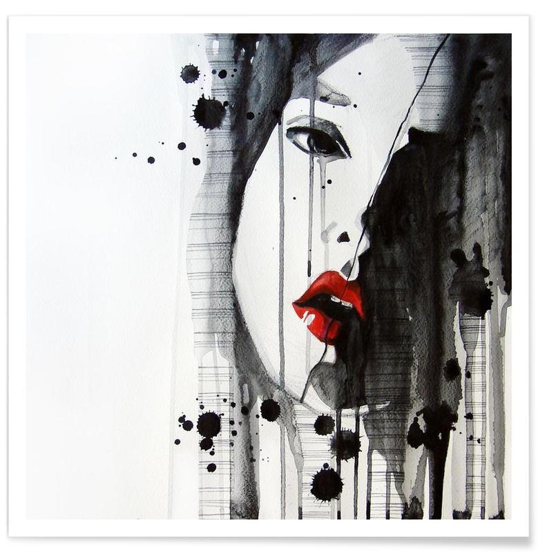 Schwarz & Weiß, Porträts, Doubt -Poster