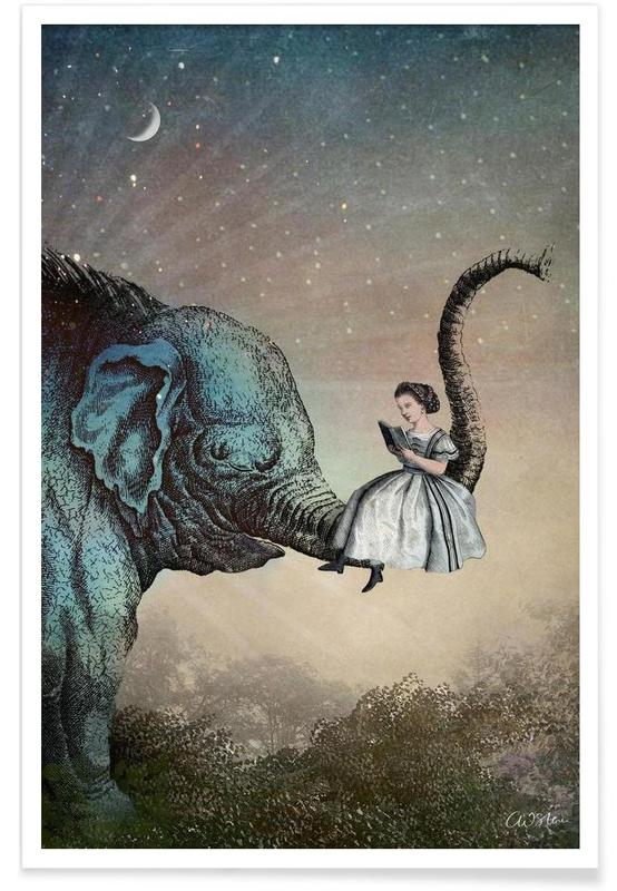 Dreamy, Nursery & Art for Kids, Good Night Story Poster