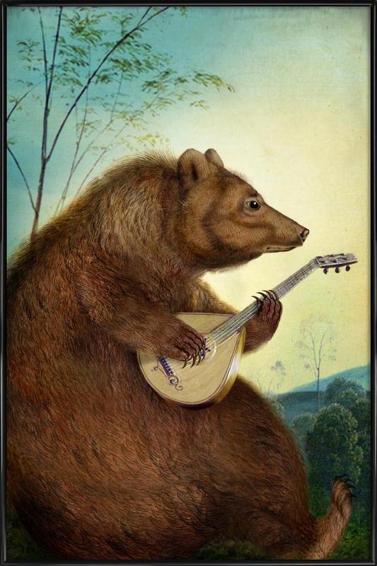 Mandolin Bear Framed Poster