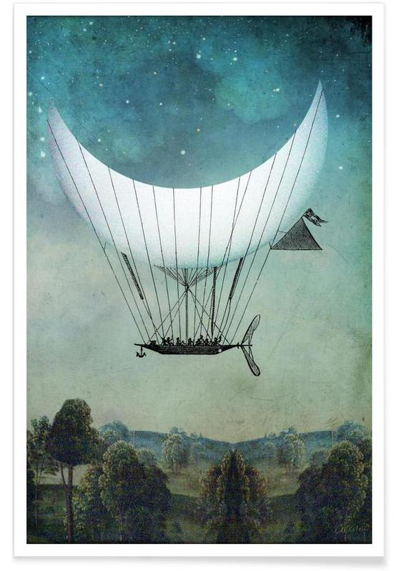 Dreamy, The Moon Ship Poster