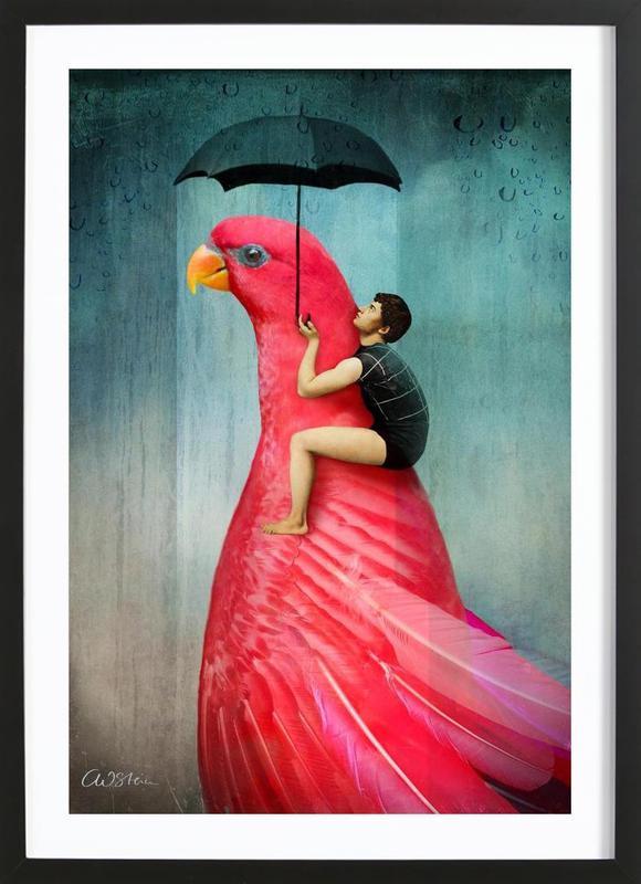 Under My Umbrella affiche sous cadre en bois